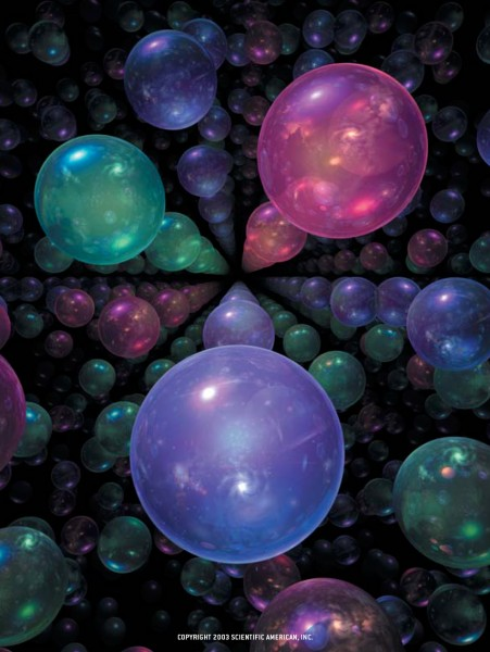 Artist's impression of parallel universes making up the multiverse - click for larger version